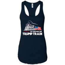 Load image into Gallery viewer, Trump All Aboard The Trump Train Women's Racerback Tank
