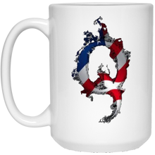Load image into Gallery viewer, White American Flag Flame Qanon/Q Mug