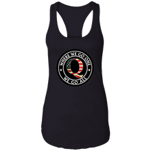 Load image into Gallery viewer, Qanon Where We Go One We Go All Logo Women's Racerback Tank