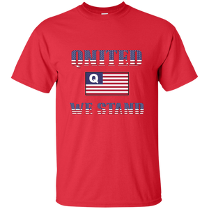Red Qnited We Stand Q/Qanon T-shirt