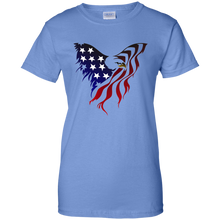 Load image into Gallery viewer, Blue Amercian Flag Eagle T-shirt