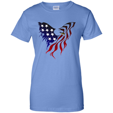 Blue Amercian Flag Eagle T-shirt