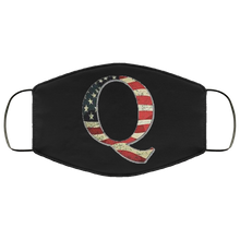 Load image into Gallery viewer, Qanon Q American Flag Face Mask