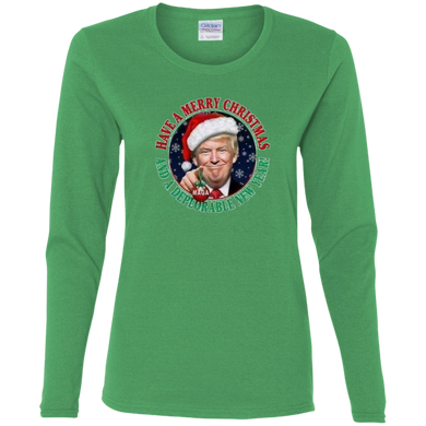 Merry Christmas and a DNY Women's Long Sleeve Shirt