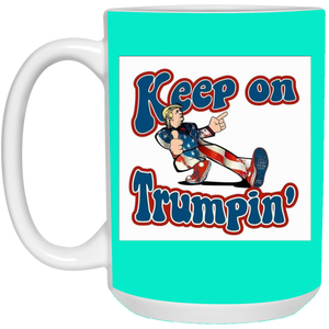 Teal Trump Ceramic Mug