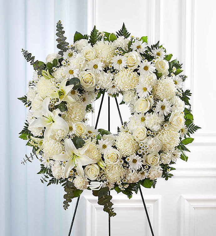 Treasured Tribute Sympathy Wreath - Standard