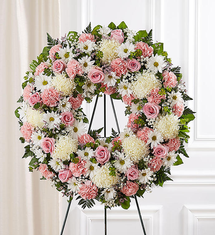 Serene Blessing Sympathy Wreath - Large