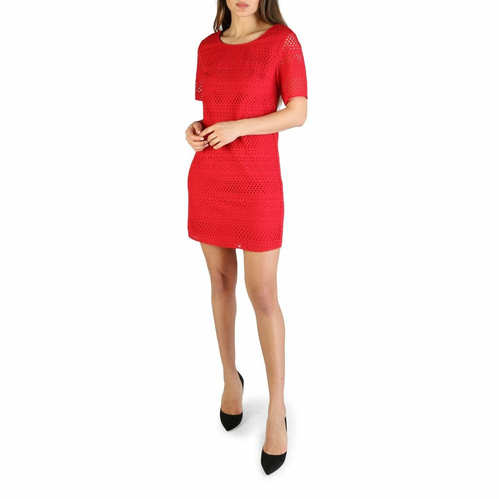 Red Short Sleeves Dress