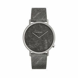 Gray Stainless Steel 40mm Quartz Watch
