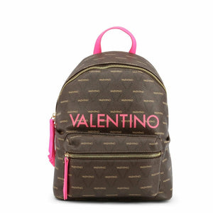 Brown and Pink Zip Fastening Rucksack