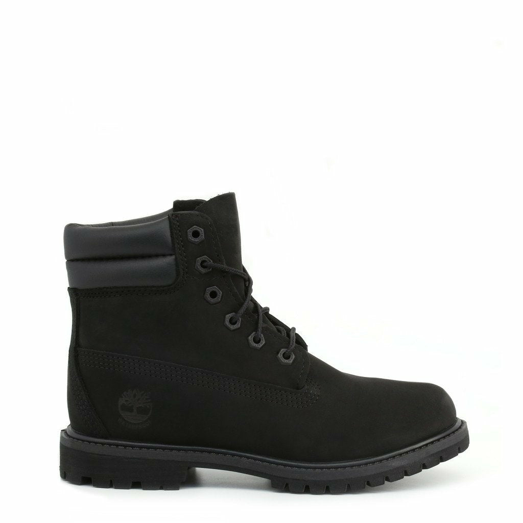 Black Ankle Boots with Laces Fastening