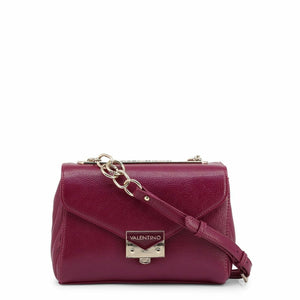 Purple Crossbody Bag with Metallic Fastening