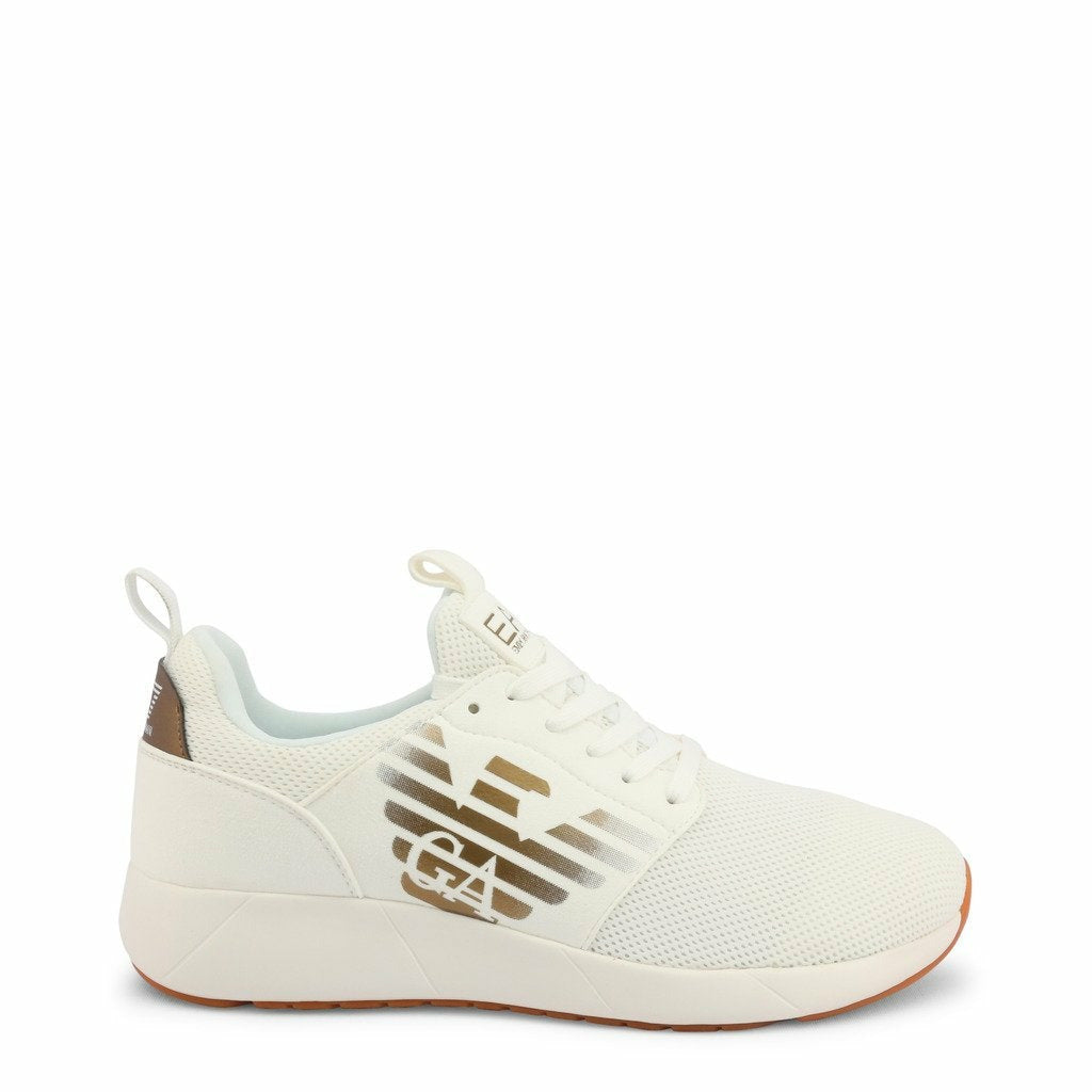 White Sneakers with Visible Logo