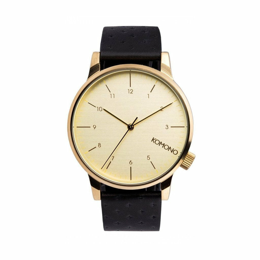 Gold Stainless Steel 41mm Quartz Watch