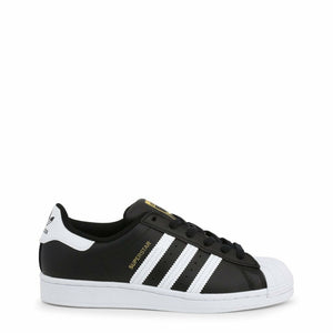 Black and White Adidas Superstar Sneakers