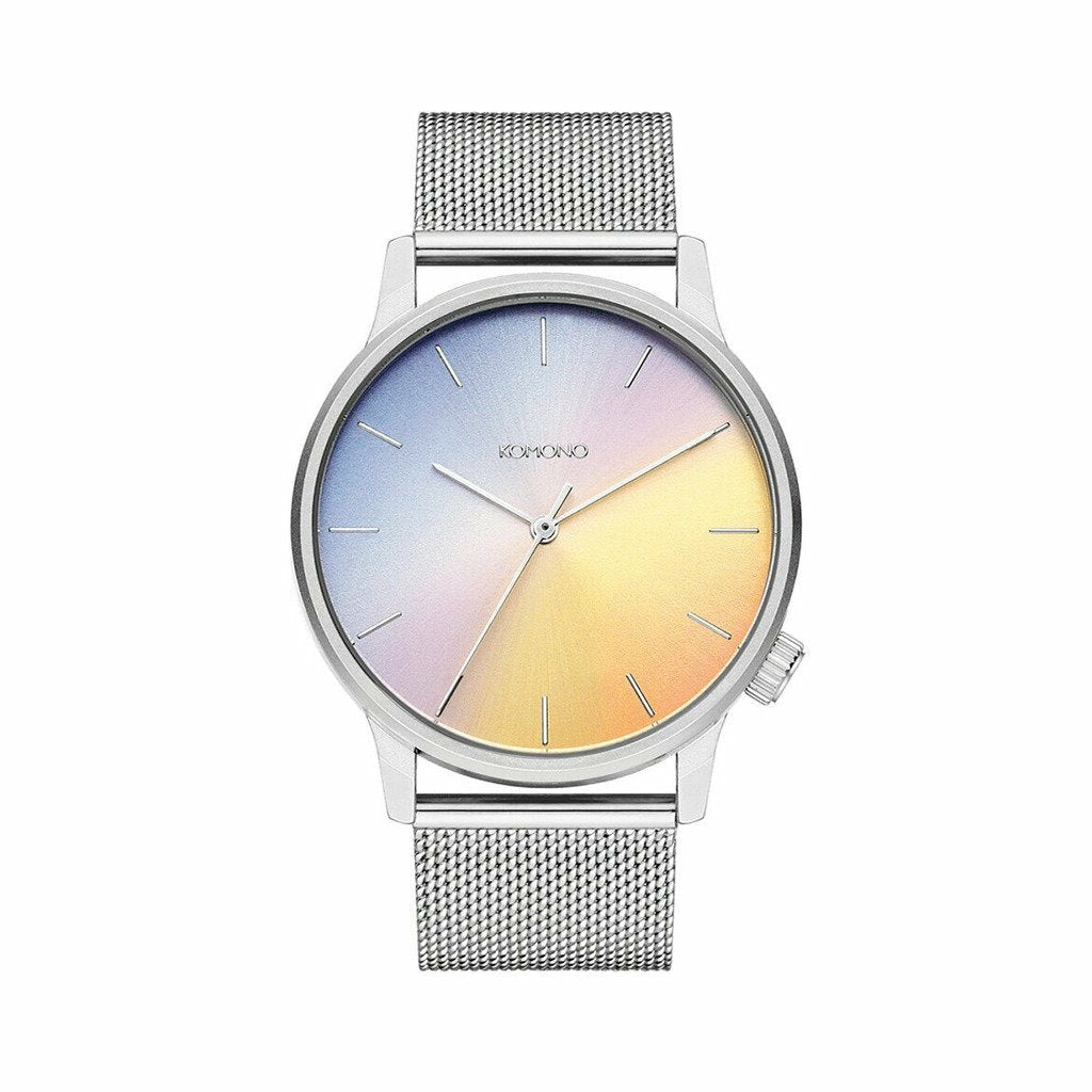 Silver Stainless Steel 42mm Quartz Watch
