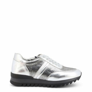 Silver Leather Laces Sneakers