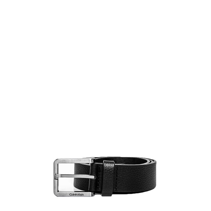 Black Leather Belt with Buckle/Bow Fastening