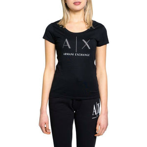 Black Cotton T-Shirt with Round Neckline