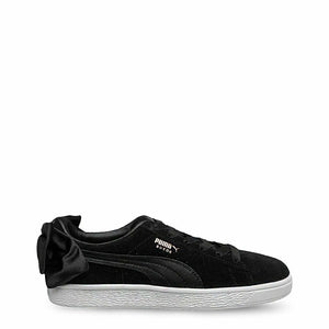 Black Puma Suede Bow B Sneakers