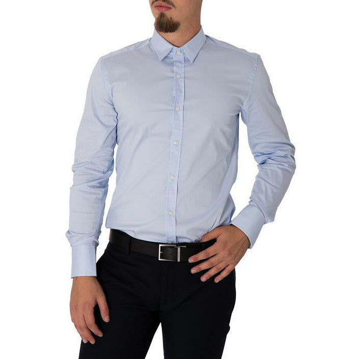 Light Blue Cotton Long Sleeves Shirt