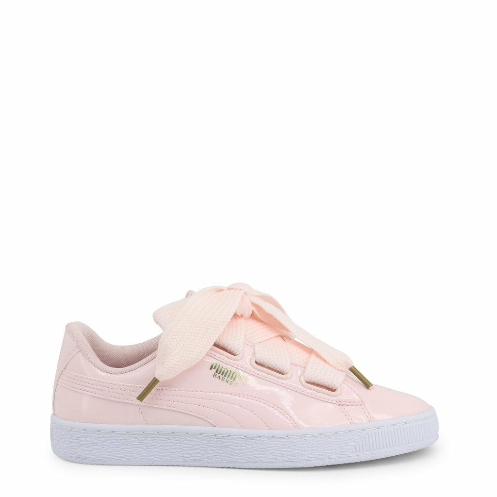 Pink Synthetic Leather Sneakers
