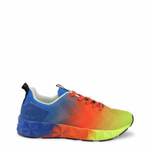 Multicolor Sneakers with Visible Logo