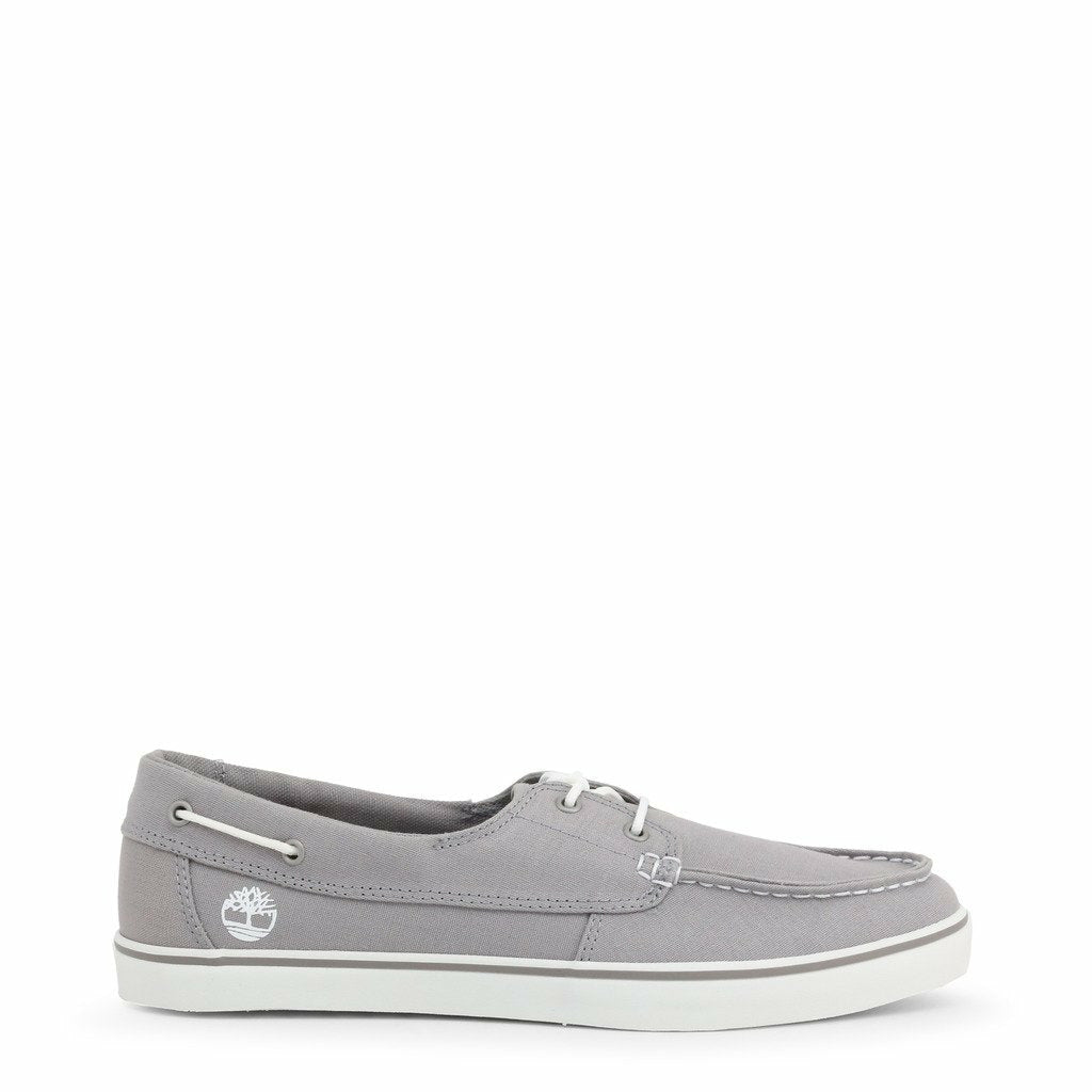 Grey Fabric Mocassins