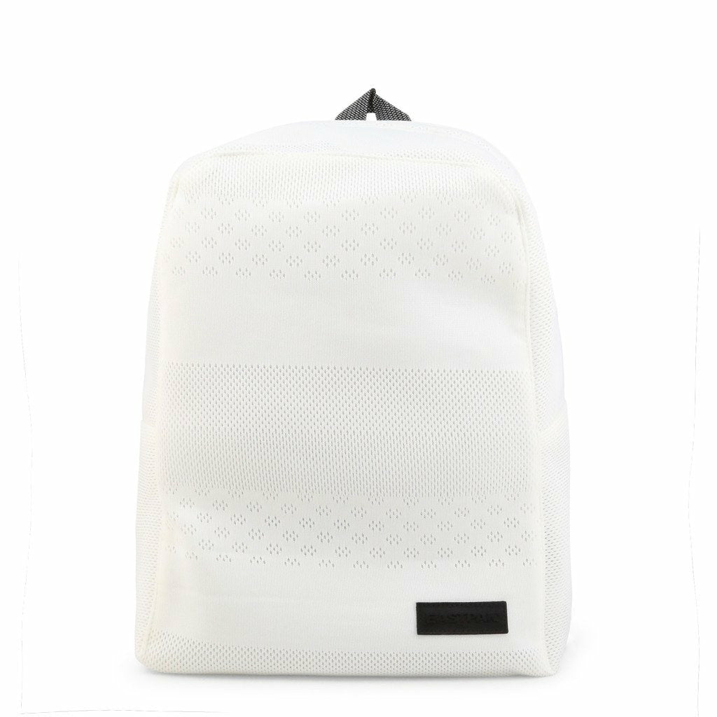 White Rucksack with Zip Fastening and Inside Compartment