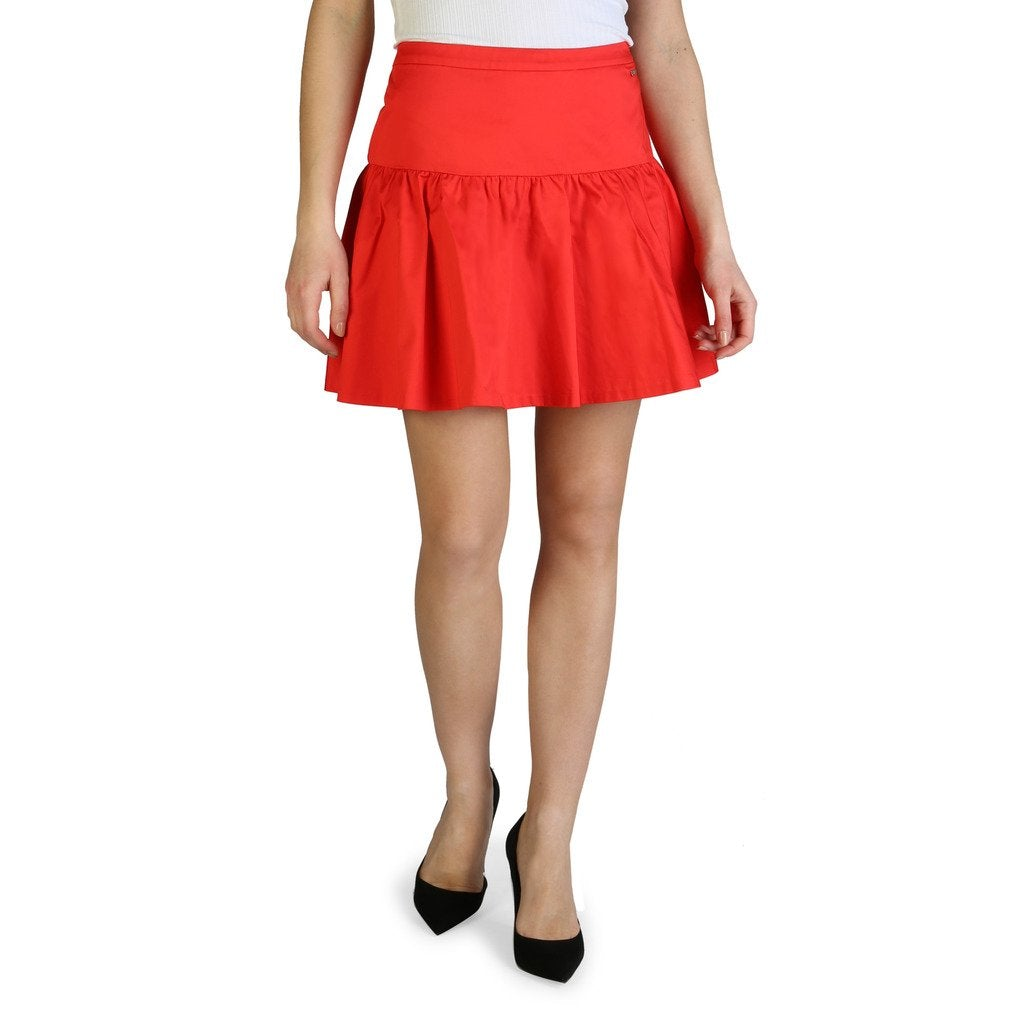 Red Cotton Skirt