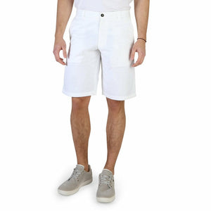 White Cotton Buttons and Zip Shorts