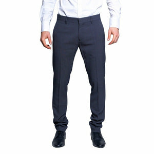 Blue Trousers with Front and Back Pockets