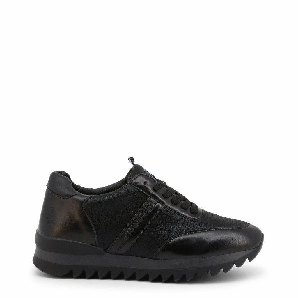 Black Leather Laces Sneakers