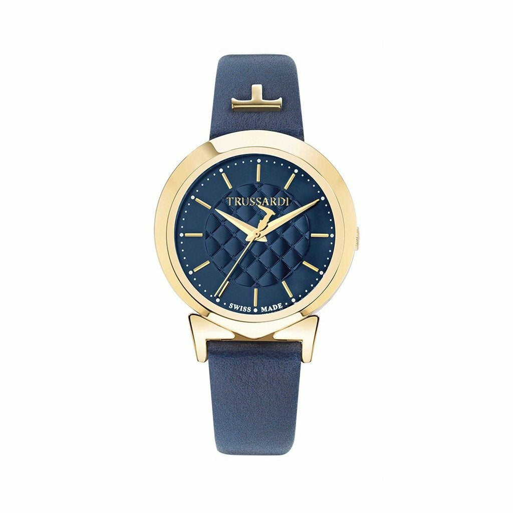 Blue Leather Strap 34mm Watch