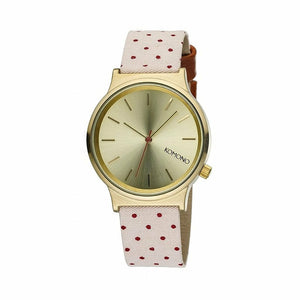 Gold Stainless Steel 34 mm Quartz Watch