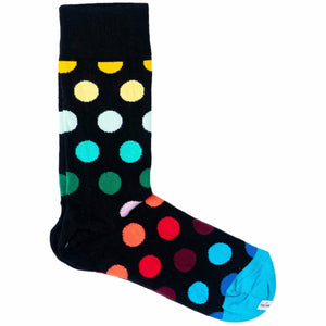 Black Socks with Dotted Pattern