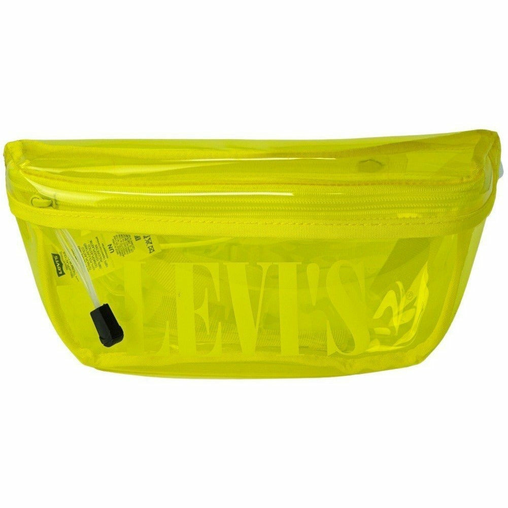 Yellow Transparent Belt Bag