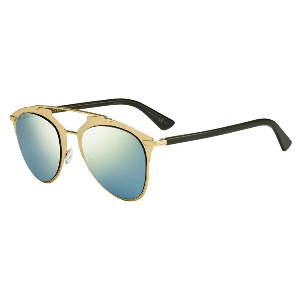 Gold Metal Sunglasses with Mirrored Lenses