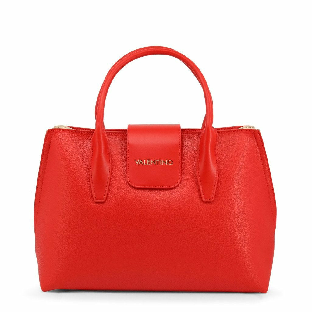 Red Handbag with Zip Fastening
