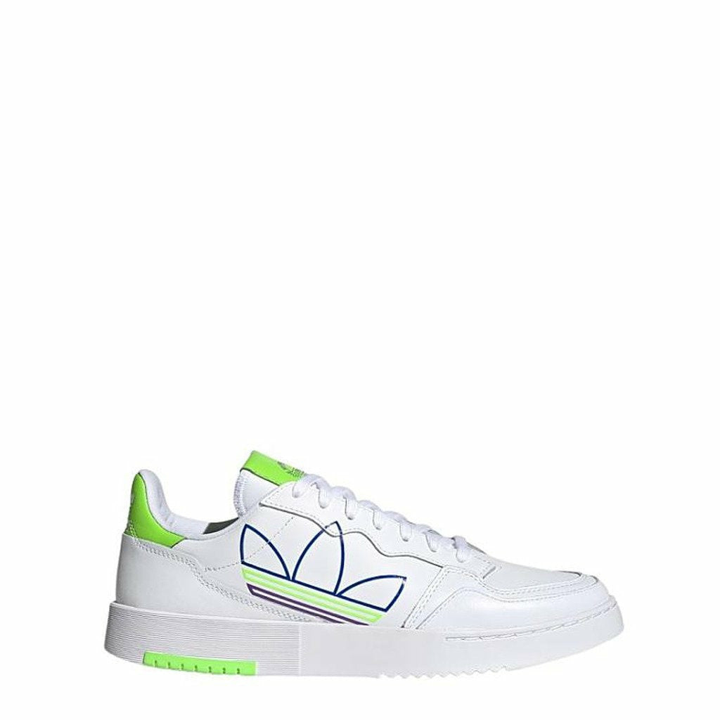 White Supercourt Leather Sneakers