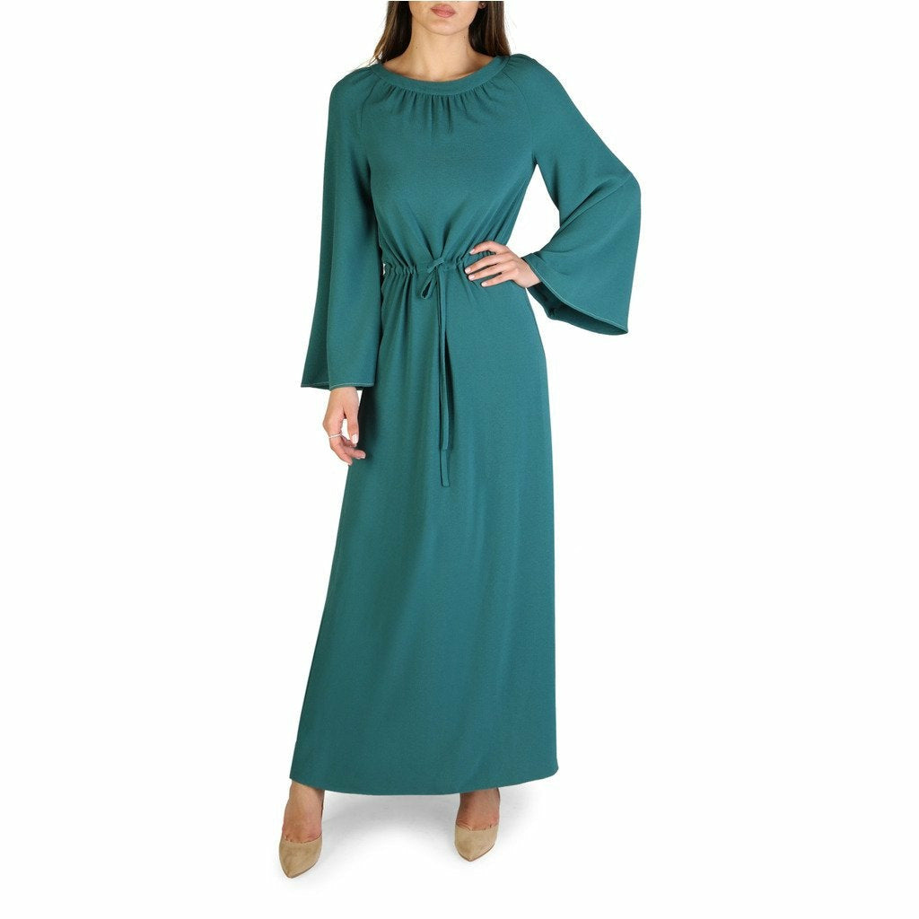 Green Long Sleeves Dress