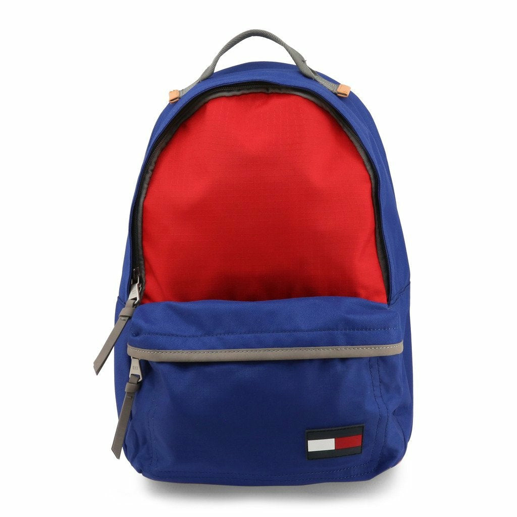 Red and Blue Zip Fastening Rucksack