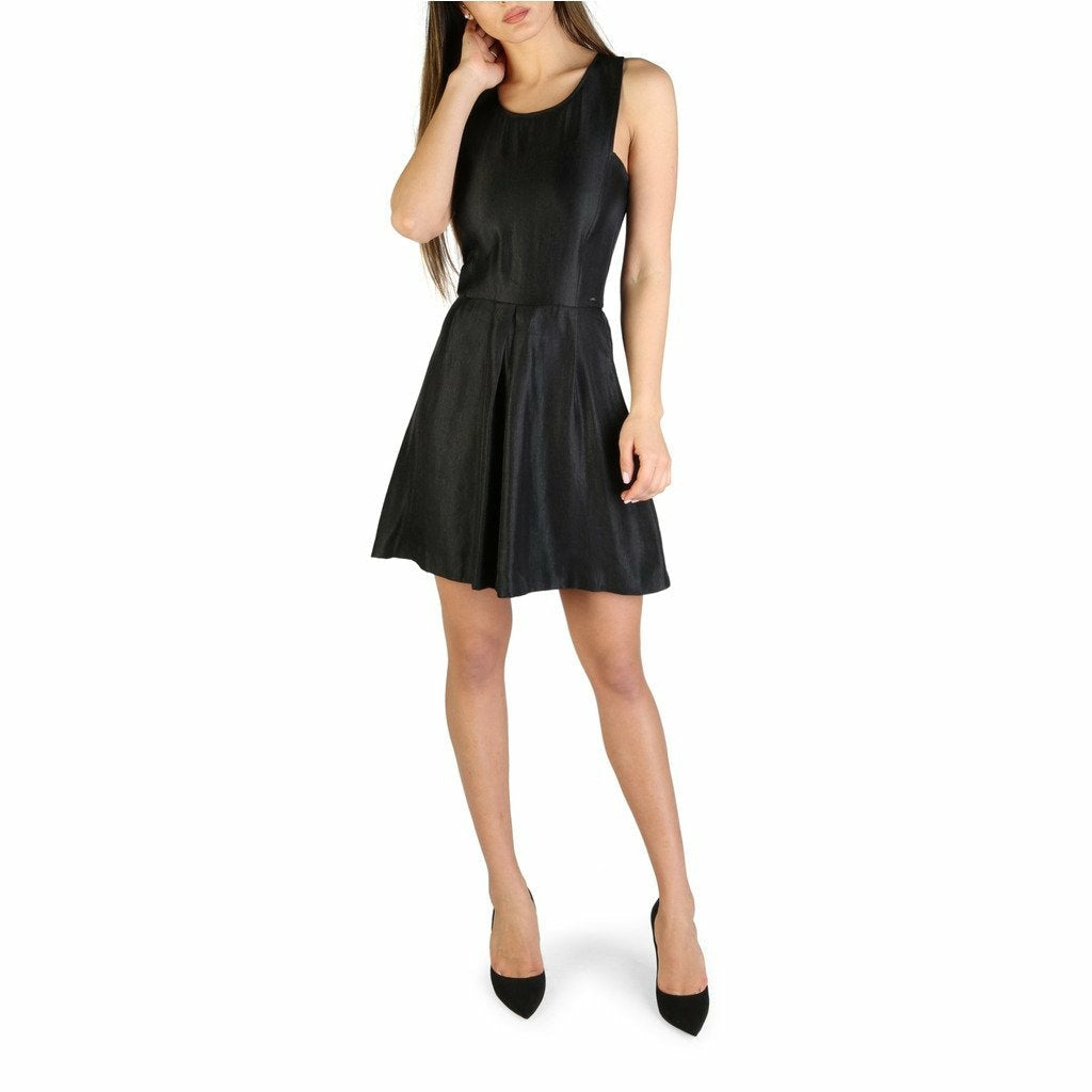 Black Viscose Sleeveless Dress