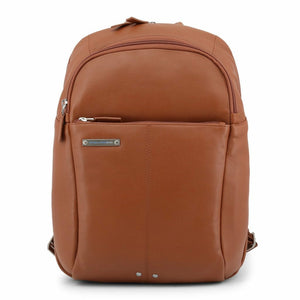 Brown Leather Backpack with Trolley Fitting Strap