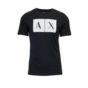 Black Cotton T-Shirt with Print Pattern