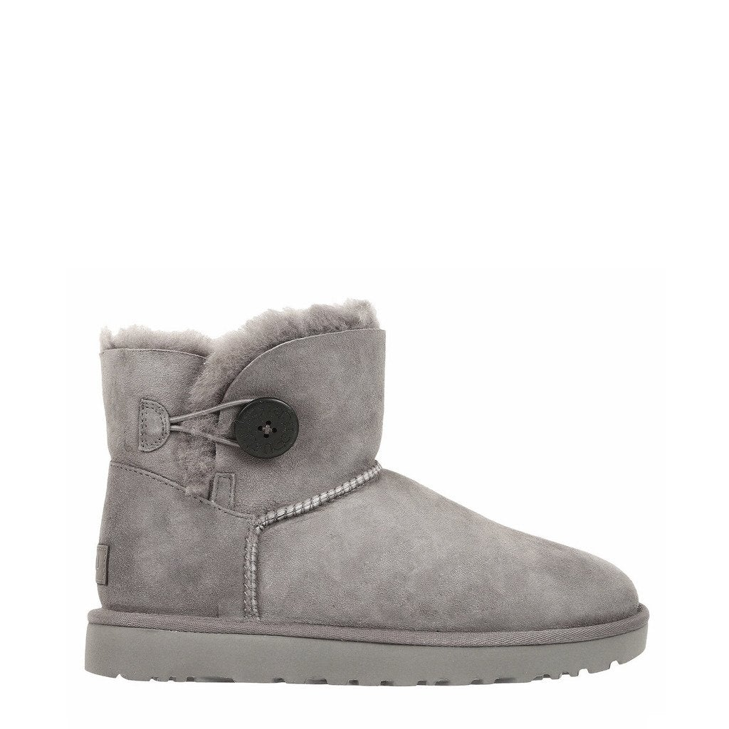 Grey Boots with Round Toe