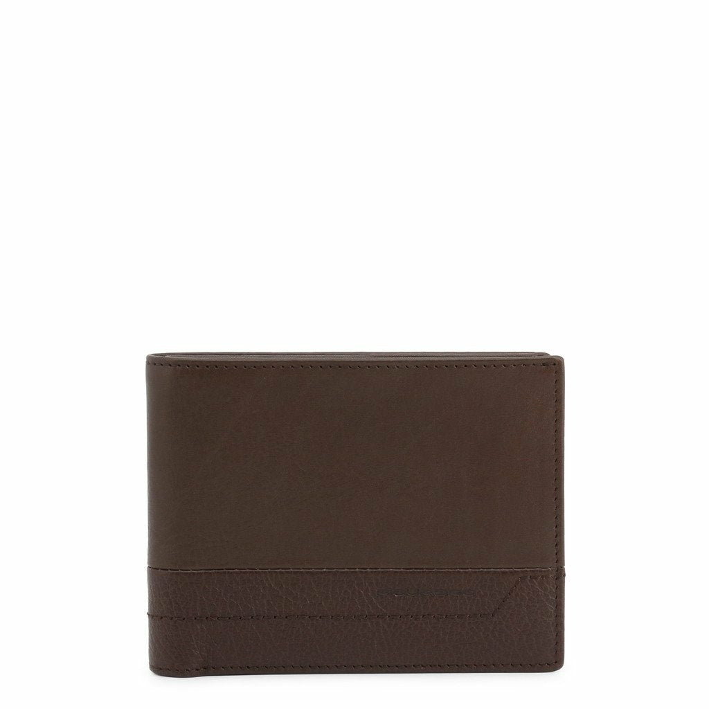 Brown Leather Wallet with Visible Logo
