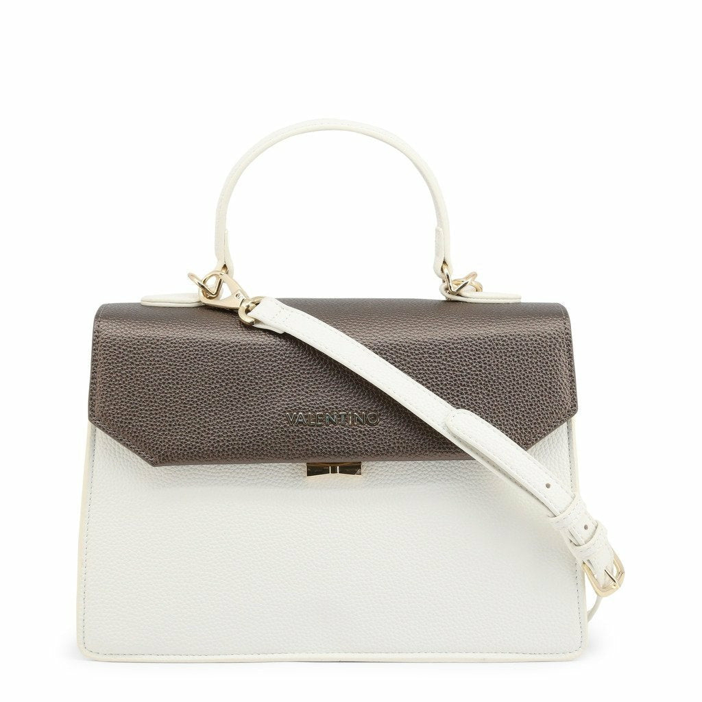 White Handbag with Three Internal and One External Pocket
