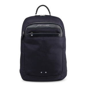 Blue Lether Backpack with Trolley Fitting Strap