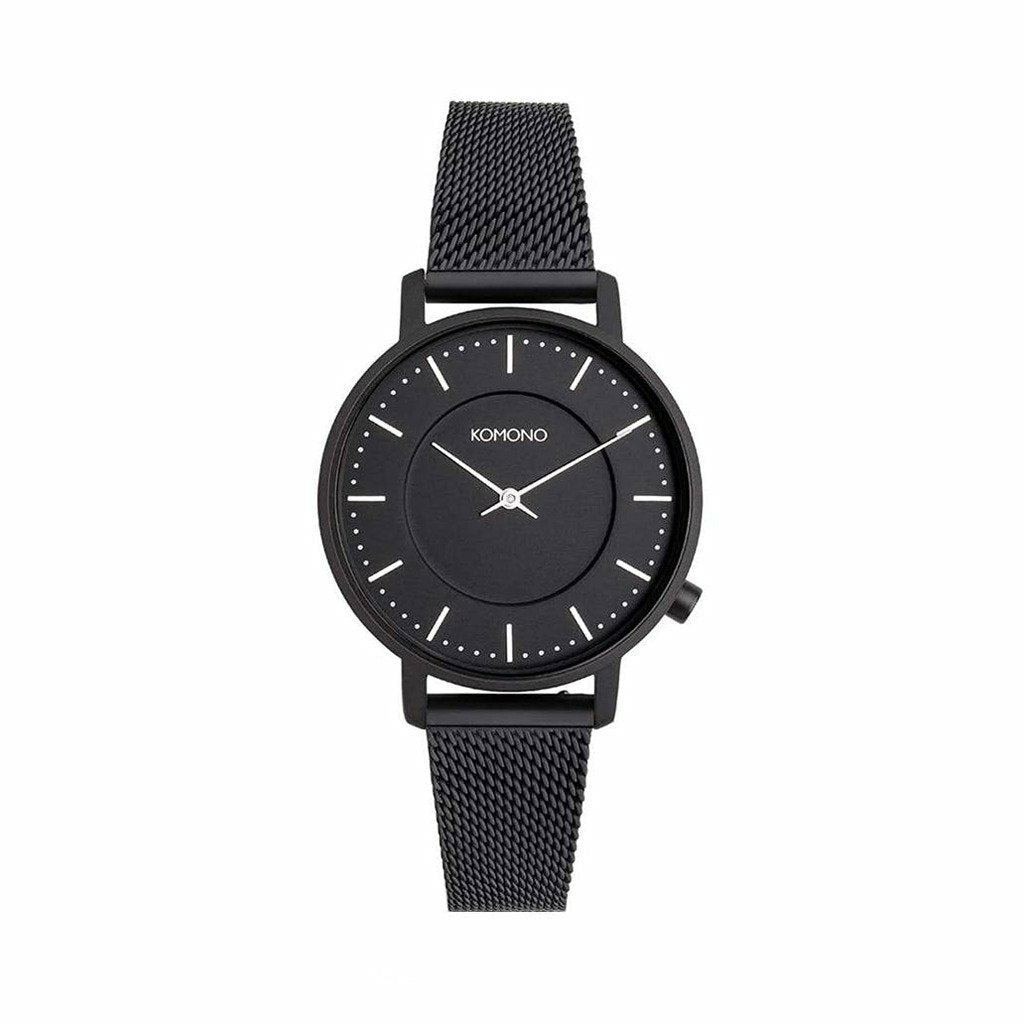 Black Stainless Steel 40 mm Quartz Watch
